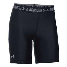 Under Armour Womens HeatGear Armour Long Shorts Black XS, Black, rebel_hi-res