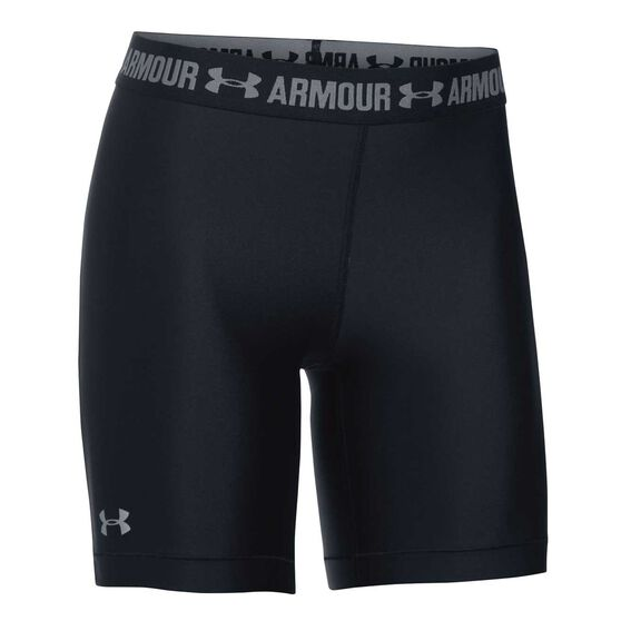 Under Armour Womens HeatGear Armour Long Shorts Black XS, Black, rebel_hi-res