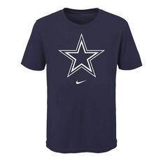 Dallas Cowboys 2020 Kids Logo Essential Tee Navy S, Navy, rebel_hi-res