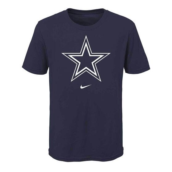 Dallas Cowboys 2020 Kids Logo Essential Tee, Navy, rebel_hi-res