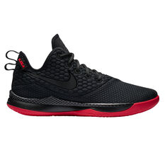 Nike LeBron Witness III Mens Basketball Shoes Black / Red US 7, Black / Red, rebel_hi-res