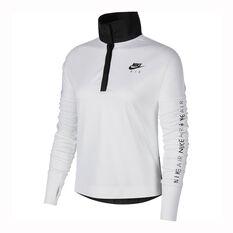 Nike Womens Nike Air Running Top White / Black XS, White / Black, rebel_hi-res