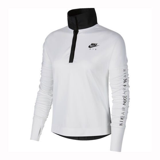 Nike Womens Nike Air Running Top, White / Black, rebel_hi-res