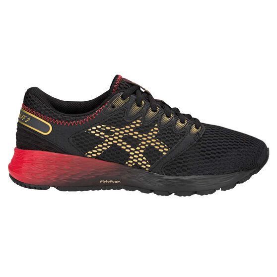Asics Roadhawk FF 2 Womens Running Shoes, Black / Gold, rebel_hi-res