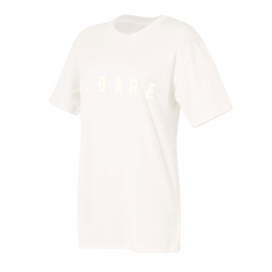 Running Bare Womens Hollywood 90s Relax Tee, White, rebel_hi-res