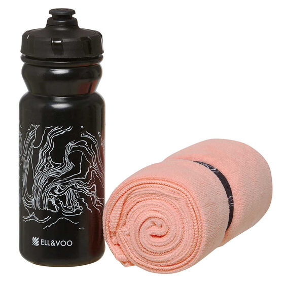 Ell & Voo Towel and Water Bottle Gift Pack, , rebel_hi-res
