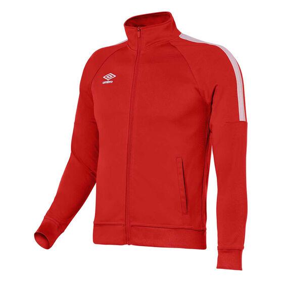 Umbro Teamwear Track Jacket, Red / White, rebel_hi-res