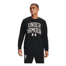 Under Armour Mens Rival Terry Crew, Black, rebel_hi-res
