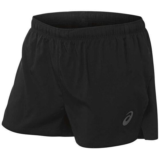 Asics Mens Split Shorts, Black, rebel_hi-res