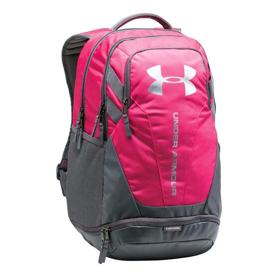 Under Armour Hustle 3.0 Backpack Pink / Grey, , rebel_hi-res