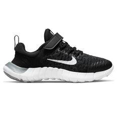 Nike Free RN 2021 Kids Running Shoes Black/White US 11, Black/White, rebel_hi-res