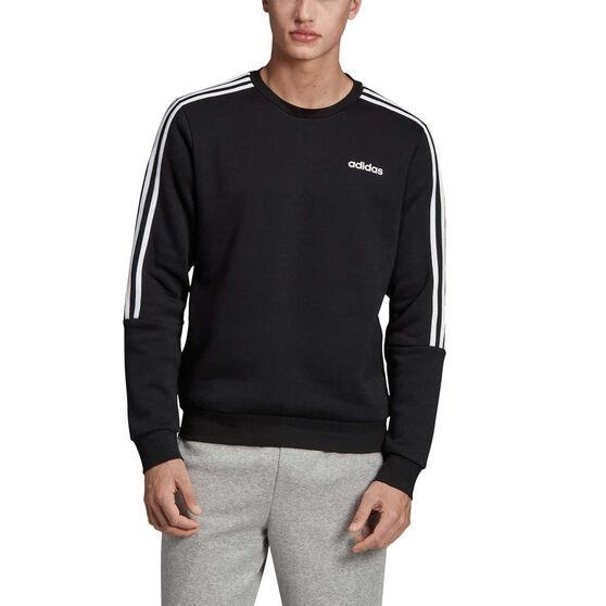 adidas Mens 3-Stripes Sweatshirt Black S, Black, rebel_hi-res