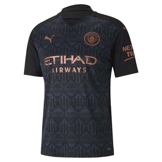 Manchester City FC 2020/21 Mens Away Jersey, Black, rebel_hi-res