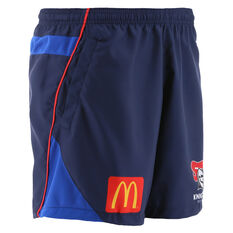 Newcastle Knights 2021 Mens Training Shorts, Blue, rebel_hi-res
