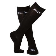 Rojo Womens Thin Lizzy Socks Black US 2 - 8, , rebel_hi-res