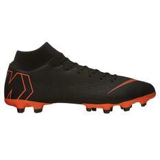 Nike Mercurial Superfly 6 Academy MG Mens Football Boots Black / Orange US 7 Adult, Black / Orange, rebel_hi-res