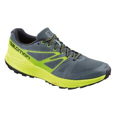 Salomon Sense Escape Mens Trail Running Shoes Grey / Lime US 8, Grey / Lime, rebel_hi-res