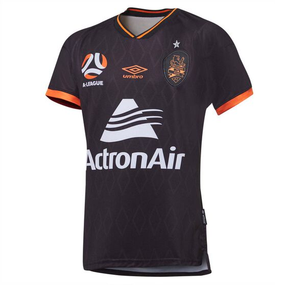 Brisbane Roar FC 2020/21 Mens 3rd Jersey, Black, rebel_hi-res