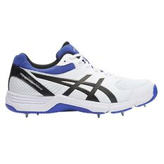Asics GEL 100 Not Out Cricket Shoes White / Blue US 8, White / Blue, rebel_hi-res