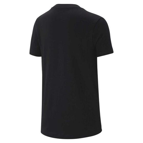 Nike Girls Sportswear Embossed Tee Black XS, Black, rebel_hi-res