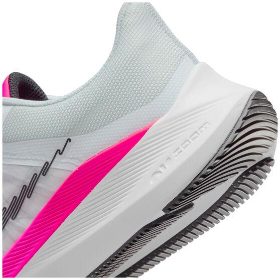 Nike Winflo 8 Womens Running Shoes, White/Black, rebel_hi-res