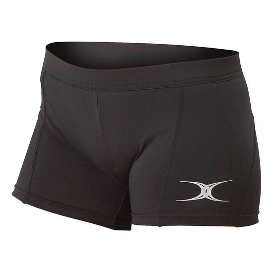 Gilbert Womens Eclipse Netball Shorts, Black, rebel_hi-res