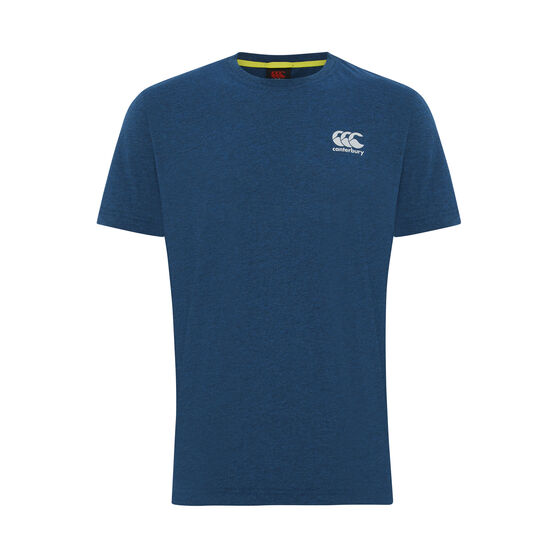 Canterbury Mens Small Logo Tee Blue M, Blue, rebel_hi-res