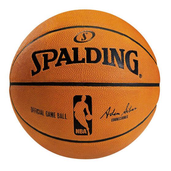 Spalding Official NBA Leather Indoor Basketball, , rebel_hi-res