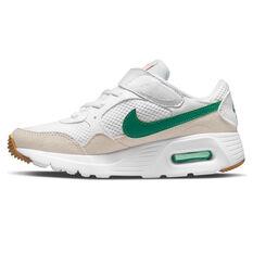 Nike Air Max SC Kids Casual Shoes White/Green US 11, White/Green, rebel_hi-res