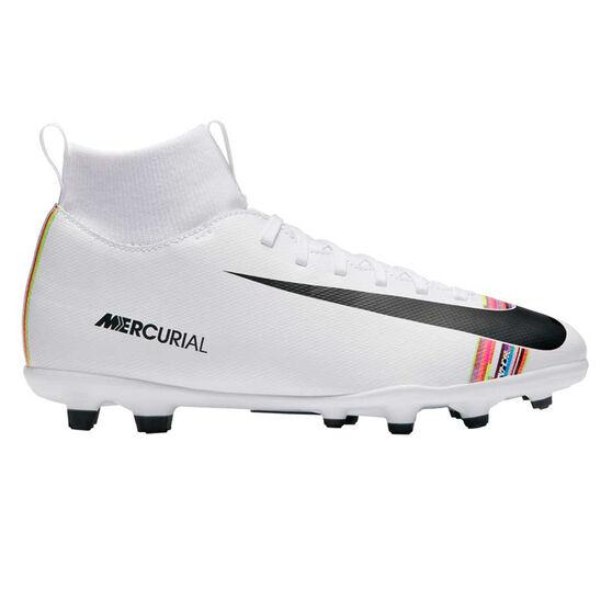 Nike Mercurial Superfly VI Club Kids Football Boots, White / Black, rebel_hi-res