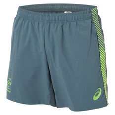 Wallabies 2019 Mens Rugby World Cup Training Shorts Green S, Green, rebel_hi-res