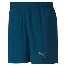 Puma Mens Run Favorite Woven 5in Session Short Blue M, Blue, rebel_hi-res