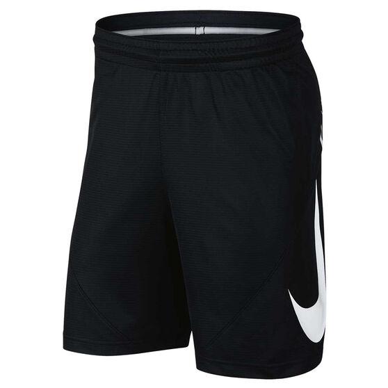 Nike Mens Basketball Shorts, Black / White, rebel_hi-res
