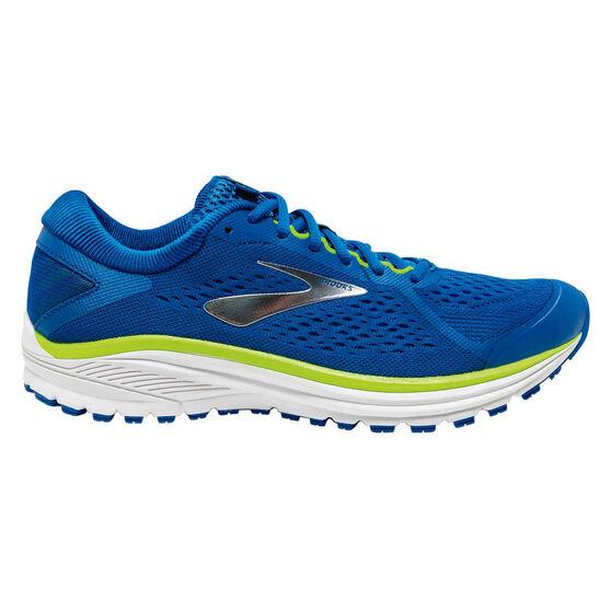 Brooks Aduro 6 Mens Running Shoes, Blue / White, rebel_hi-res
