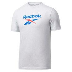 Reebok Classics Mens Vector Tee White S, White, rebel_hi-res