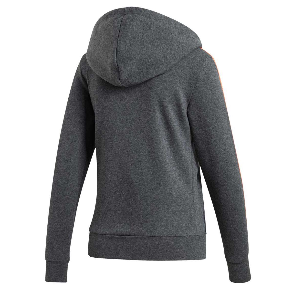 Adidas Women's Essentials 3 Stripe Zip Hoodie