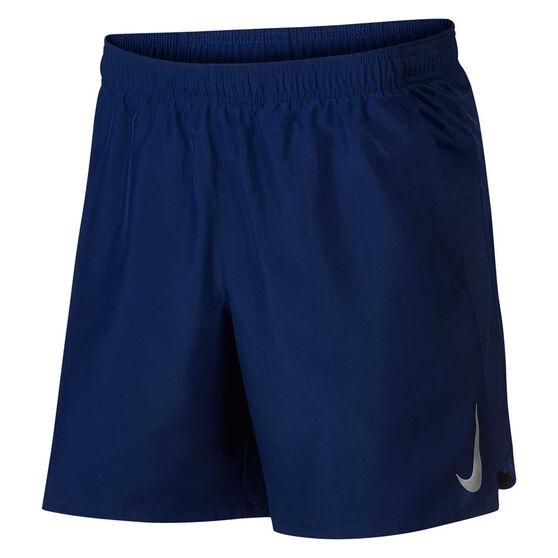 Nike Mens Challenger 7in Shorts Blue S, Blue, rebel_hi-res