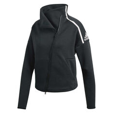 adidas Womens Z.N.E. Heartracer Jacket Black XS, Black, rebel_hi-res