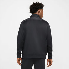 Nike Mens Air NSW 1/4 Zip Sweatshirt Black XS, Black, rebel_hi-res