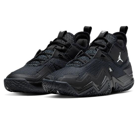 Nike Jordan Westbrook One Take Kids Basketball Shoes, Black, rebel_hi-res