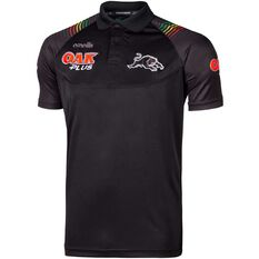 Penrith Panthers 2020 Mens Polo Black S, Black, rebel_hi-res