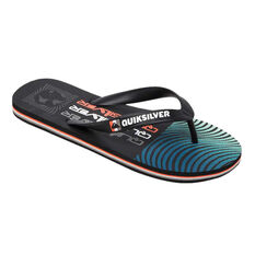 Quiksilver Molokai Arch Wave Kids Thongs Black US 2, Black, rebel_hi-res