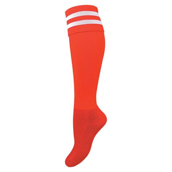 Burley Kids Football Socks, Red  /  White, rebel_hi-res