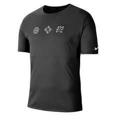Nike Mens Breathe Wild Run Running Tee Black S, Black, rebel_hi-res