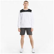 Puma Mens Amplified Sweatshirt, White, rebel_hi-res