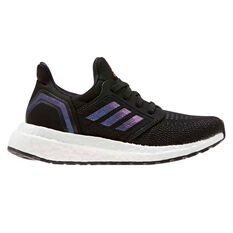 adidas Ultraboost 20 Kids Running Shoes Black / Blue US 11, Black / Blue, rebel_hi-res