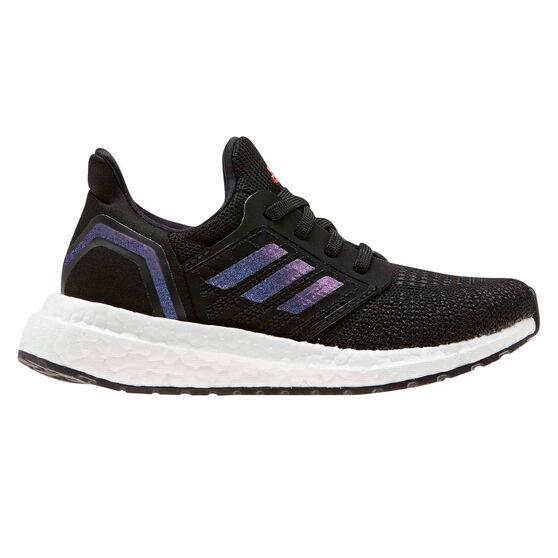 adidas Ultraboost 20 Kids Running Shoes, Black / Blue, rebel_hi-res