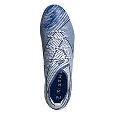 adidas Nemeziz 19.1 Football Boots, White / Blue, rebel_hi-res