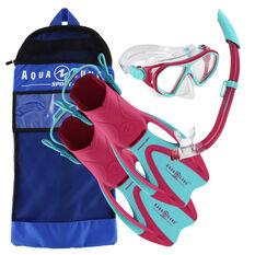 Aqua Lung Sport Junior Urchin Snorkel Set Pink S / M, Pink, rebel_hi-res