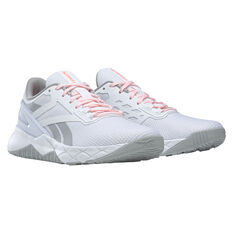 Reebok Nanoflex Womens Training Shoes White/Grey US 6, White/Grey, rebel_hi-res